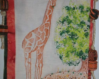 Out of Africa The Giraffe one of a kind mixed media art