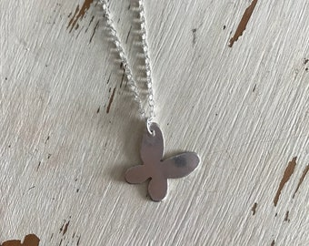 Silver Silver Butterfly Necklace