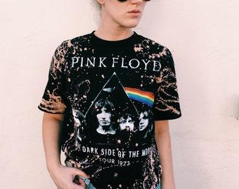 LF inspired Acid Wash Pink Floyd Oversized Tee