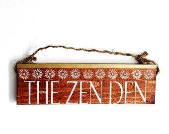 Zen Den /  Buddha sign / beautiful / anthropologie/ urban outfitters/ brandy melville  / wall hanging / decor / art / gift / wholesale