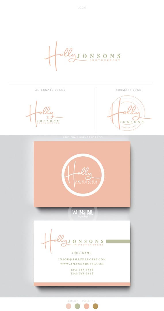Siganture handwriting logo pen initials businesscards simple reheart