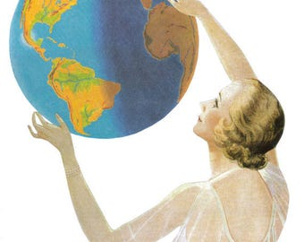 Original Art Collage, Earth Mother, Earth Day Art, Planet Artwork