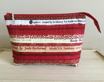 Selvedge Pouch - red