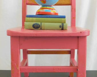 Classic Vintage Pink Wooden Childu0027s Student Chair, Desk, Office, Work,  Schoolhouse, Homeschool, Youth, Toddler, Farmhouse, Country, Shabby