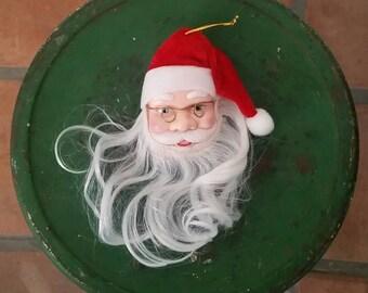 Vintage Santa Claus Saint Nick Ornament Wire Fame Glasses Christmas Ornament