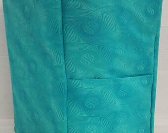Teal Sparkle Coffee Maker Cover