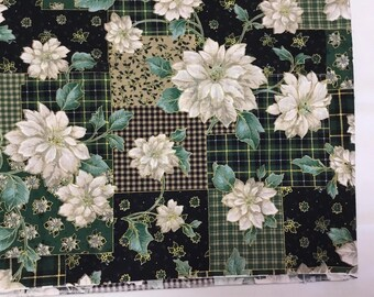 Christmas Poinsettia Fabric BTY