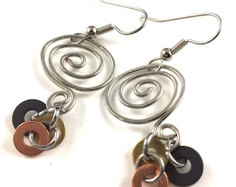 Dangle Earring Wire Mixed Metal Hardware Jewelry