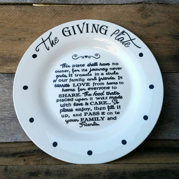 The Giving Plate Neighbor Gift Plate Family Gift Plate