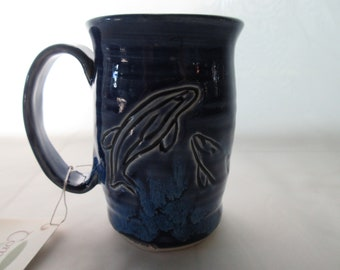 Carved Dolphin Mug