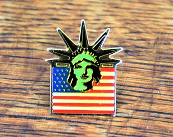 Statue of Liberty Flag Pin, Evelyn Hill Inc. Liberty Island, Patriotic Flag