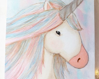 Unicorn Acrylic Original Painting