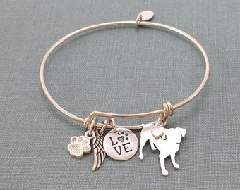 Smooth coated Brussels Griffon Adjustable Bangle Bracelet, 925 Sterling Silver Personalize Pendant Breed Charm Rescue pet memorial jewelry