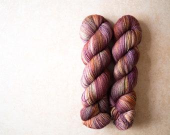 Sock Yarn - Merino+Nylon sock yarn - hand dyed - 100 grams - Autumn 2017 sock yarn club - Vendemmia