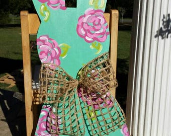 Bunny Door Hanger, Easter Door Hanger, Easter Wreath