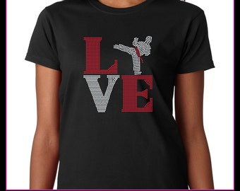 Love Square Karate  Rhinestone T-shirt