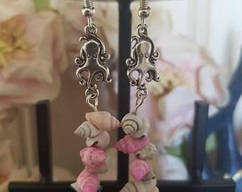 Octopus Shell Earrings