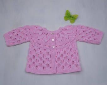 Vest/bra top-down lace pattern