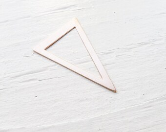 Rose Gold filled Open Triangle Charm or Link Jewelry Making Rose Gold
