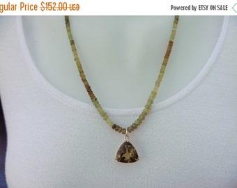 10% sale, Long necklace, hessonite garnet & citrine gemstones, sterling silver, fine jewelry, unique design, artisan quality, statement