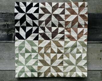 Willow Logwood and Chlorophyllin Handsewn Wall Quilt