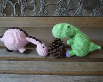 Dinosaur Duo Crochet Patterns (PDF files) for immediate download