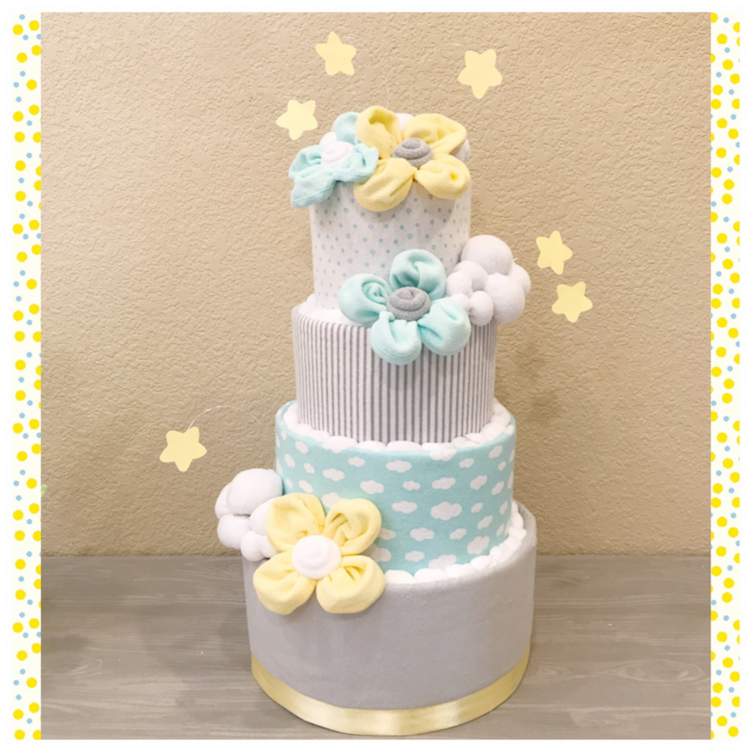 Gender Neutral Diaper Cake Dream Big Little One Baby Shower Centerpiece Love You To The Moon Le