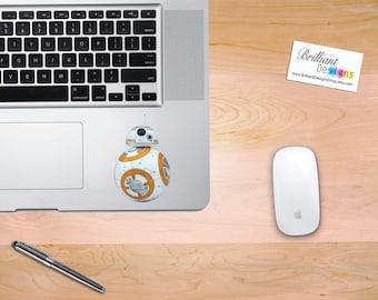 BB-8, BB8 Decal, BB8 Sticker, Star wars, Star wars Decal, BB8 Macbook Decal, BB8 Macbook Sticker, Star wars BB-8