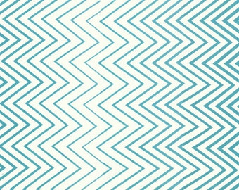 Simply Style Ombre Chevron Fabric  by V & Co for Moda Fabrics 10813 18 Aquatic Blue - Priced by the 1/2 yard
