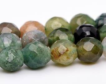 """4MM Faceted Indian Agate Natural Gemstone Half Strand Round Loose Beads 7.5"""" (100757h-323)"""