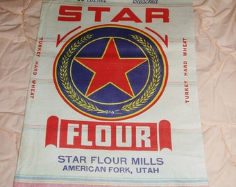 Flour Sack, Star Brand, American Fork, Utah, Never Used