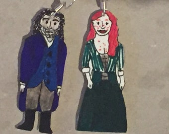 Poldark and Demelza handmade earrings