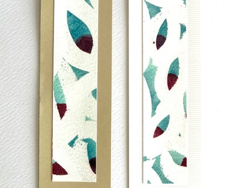 "Book marks 2 pcs ""Prune pits"" beige/white"