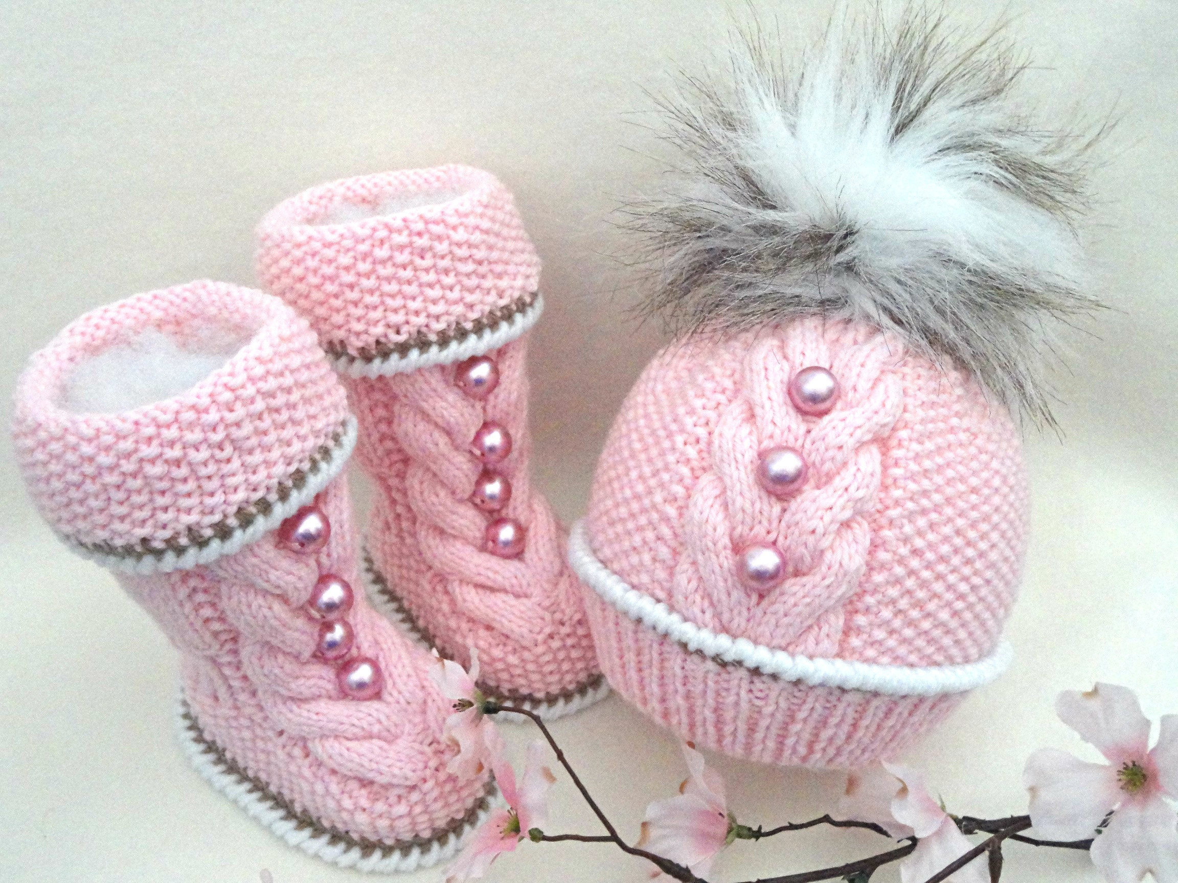 Knitting PATTERN for Babies Knitted Baby Set Baby Shoes Knitted Baby