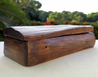Wooden Box, Rustic Wooden Box, Driftwood Box, Storage Box, Jewelry Box, Wedding Card Box, Recipe Box, Reclaimed Wood Box, Gift, Handmade