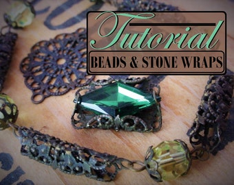 Free Tutorial How To Make Filigree Connector Beads & Wrap Settings Rhinestones Cameos Cabochons Keys Oxidized Brass Lace Filigrees Wrapping