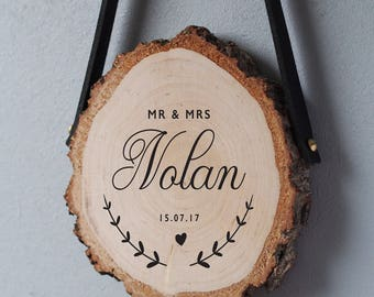Wedding gifts for couple, wedding gift wood slice
