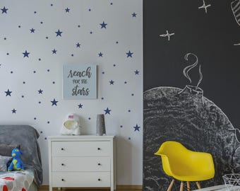 Star Wall Decals, Star Wall Stickers, Peel and Stick Decals, Star Vinyl Decals, Boys Wall Decals, Boys Nursery Wall Art, Wall Decor