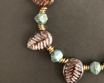 A New Leaf- Glass Bead Bracelet inspiring positive change