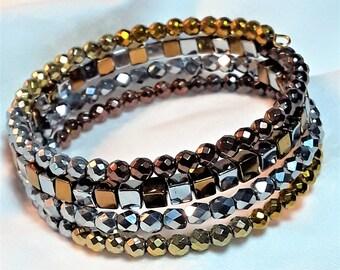 Palette of Metals Memory Wire Bracelet