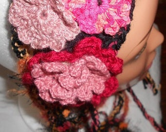 Multi-Colored Floral Head Dress