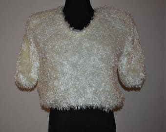 Vintage 1980's hand knitted sweater by Side Effect