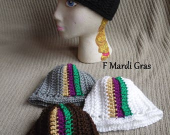 Color Splash Beanie, Mardi Gras Infant Hat