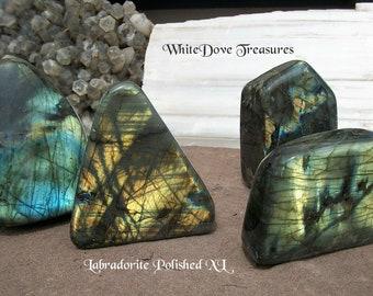 Large Labradorite Polished FreeStanding ~ Labradorite Tower ~ Spectrolite Tower ~ Magic Flash Gemstone ~ Extra Large Heavy 554-862 gms