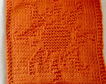PATTERN - dishcloth / washcloth knitting pattern - Sun