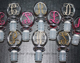 Monogram Wine Stopper, Bottle Stopper for Wine, Wine Topper