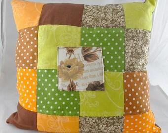Patchwork pillow, art pillow, home decor, cushion, cotton pillow