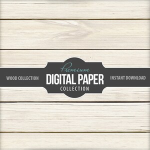Digital Photography Backdrop Paper - Digital Background White Wash Rustic Wood - Wood Background Paper 12x12 - Printable INSTANT DOWNLOAD