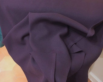 WOOL Crepe Fabric Purple Wool Fabric Crepe Material  Wool Dress Fabric Double Crepe
