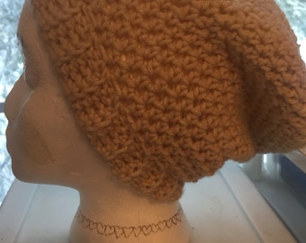 Beige adult size slouchy beanie